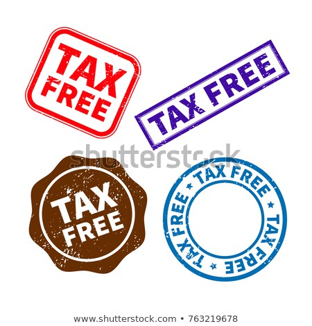 Set of different retro tax free rubber stamps on white Stock photo © evgeny89