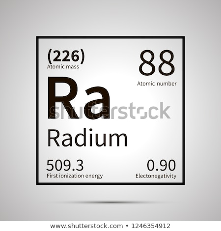 Radium chemical element with first ionization energy, atomic mass and electronegativity values ,simp Stock photo © evgeny89