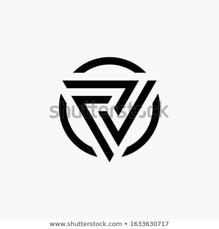 Trójkąt geometria logo technologii działalności tożsamości Zdjęcia stock © kyryloff