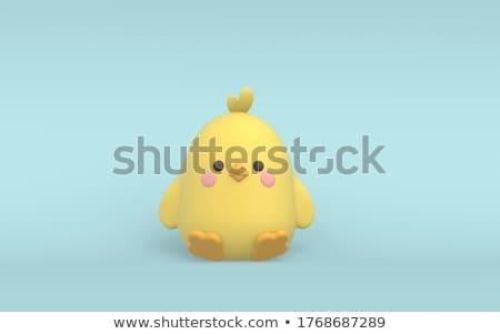 beautiful hen easter head character Stock photo © yupiramos