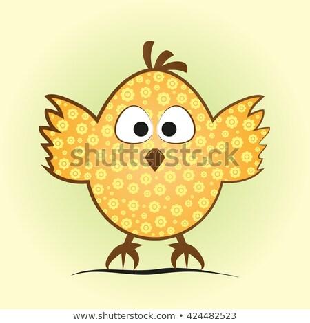 пасхальное яйцо окрашенный куриного крыльями Пасха цветок Сток-фото © yupiramos