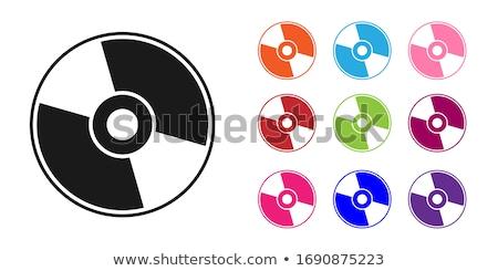 Vettore compact disc icona simbolo computer musica Foto d'archivio © nickylarson974