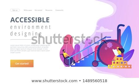 Acessível ambiente aterrissagem página rampa pessoas Foto stock © RAStudio
