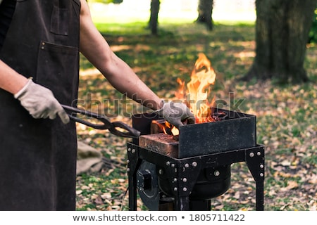 Traditional blacksmith scene Stock photo © duoduo