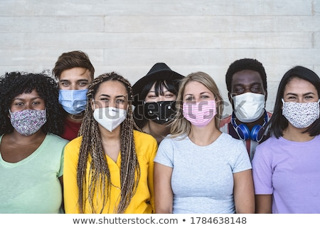 Stock photo: portrait of a group of students