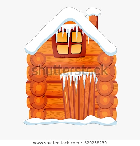 Roof of house with icicles Stock photo © Paha_L
