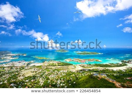 Tengerpart Seychelle-szigetek festői kilátás északi víz Stock fotó © HerrBullermann
