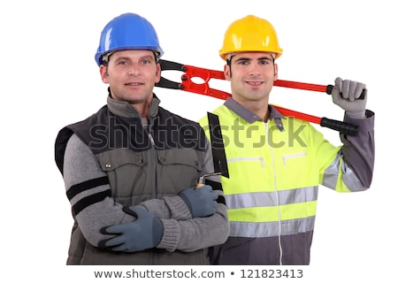 two craftsmen posing together stock photo © photography33