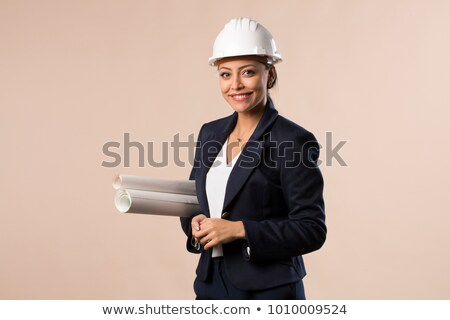 Attractive brunette architect Stock photo © photography33