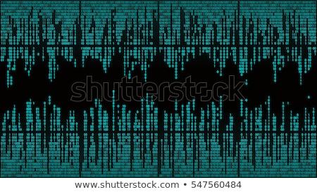 binary stream, binary code data flow, communication,  Stock photo © Artida