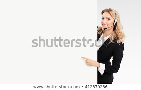 Blond call-center worker Stock photo © photography33