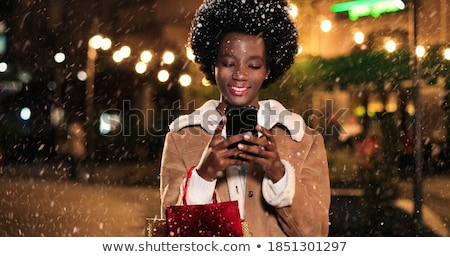 mujer · Navidad · compras · feliz - foto stock © smithore
