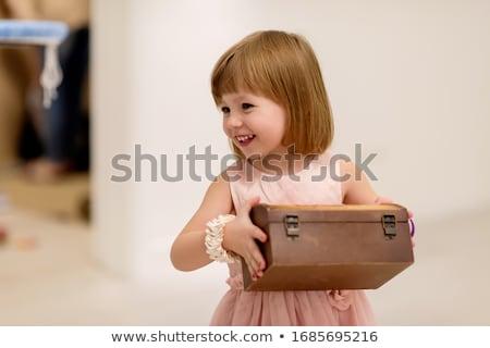 Meisje bewonderen parel kleding vrouw mode Stockfoto © zastavkin