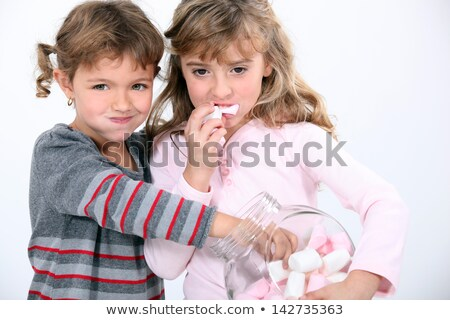 Kid · manger · fille · enfant · maïs · jeunes - photo stock © photography33