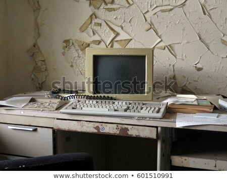 Old Forgotten Computer Monitor Stock photo © albund