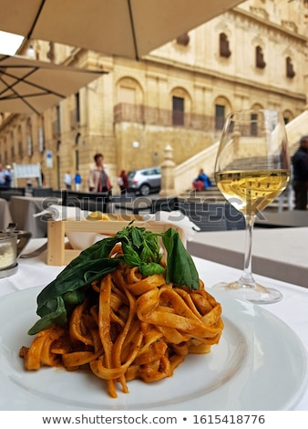 wine and pasta outside stock photo © ca2hill