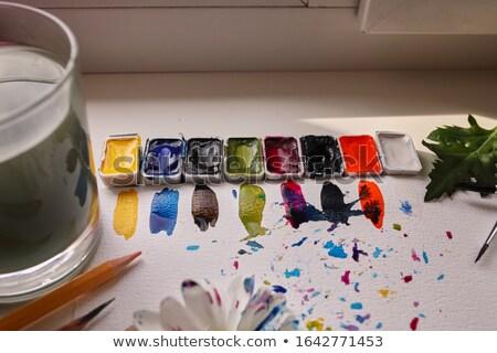 Acuarela cepillo madera textura resumen pintura Foto stock © happydancing