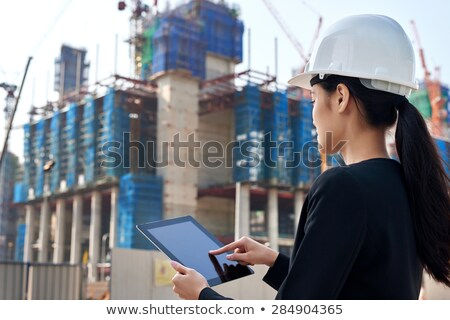 businesswoman supervising a construction site Stock photo © photography33