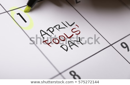 Calendar Fools' Day Stock photo © devon