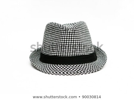 Negro fedora mujeres sombrero aislado blanco Foto stock © RuslanOmega