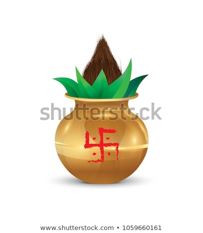 abstract golden kalash Stock photo © pathakdesigner