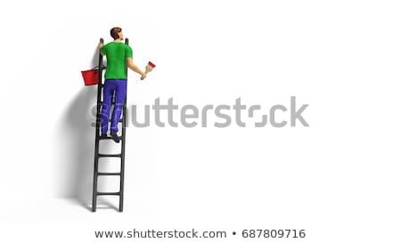 Kézműves tart piros festett tábla üzlet Stock fotó © photography33