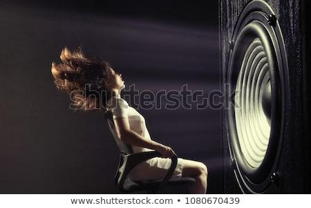 Potente speaker verde comunicazione vento pubblicità Foto d'archivio © photography33