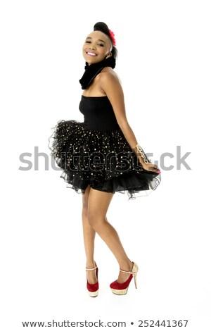 Ritratto donna nero gonna isolato Foto d'archivio © acidgrey
