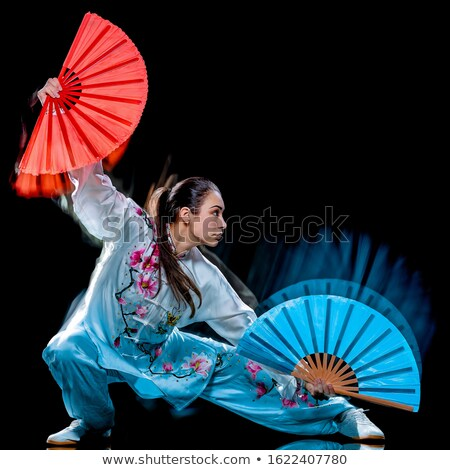 Tai Chi Woman with Black Kimono Stock photo © pcanzo