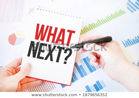 Questions Diagram Red Marker Stock photo © ivelin