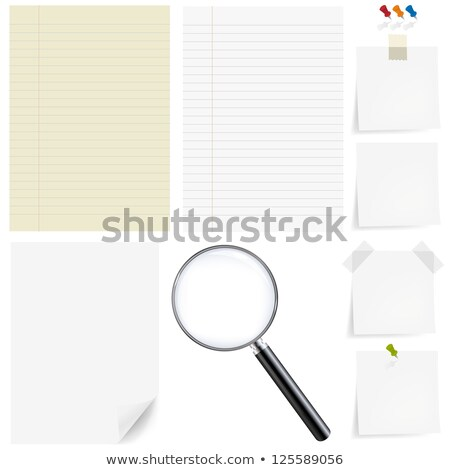 Paper Big Set With Magnifying Stock photo © adamson