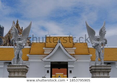 Steen poort bewaker Bangkok Thailand Stockfoto © pzaxe