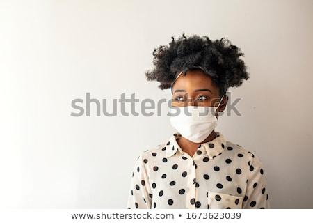 Afrika maske dekoratif örnek yalıtılmış beyaz Stok fotoğraf © dayzeren