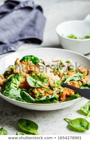 vegetarisch · komkommer · olijfolie · witte · plaat · eten - stockfoto © m-studio