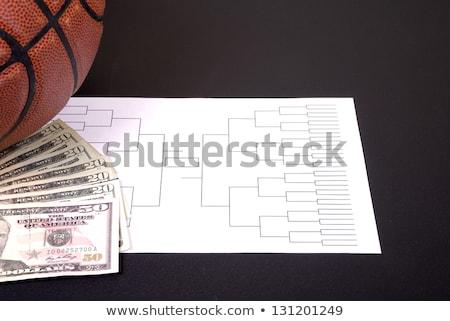 őrület kosárlabda pénz fekete verseny textúra Stock fotó © saje