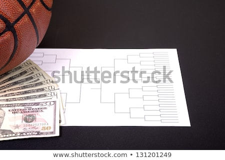 Krankzinnigheid basketbal geld zwarte toernooi textuur Stockfoto © saje
