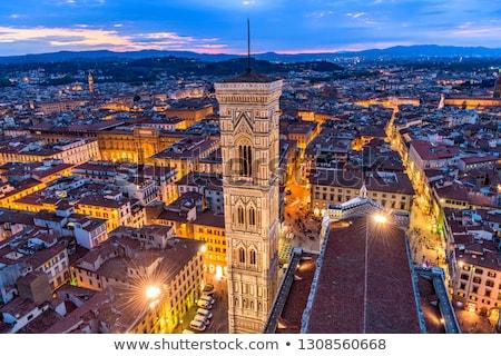 palazzo vecchio tower campanile florence tuscany italy stock photo © bertl123