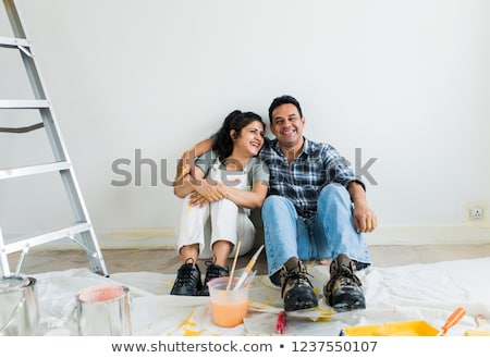 diy couple in overalls stock photo © photography33