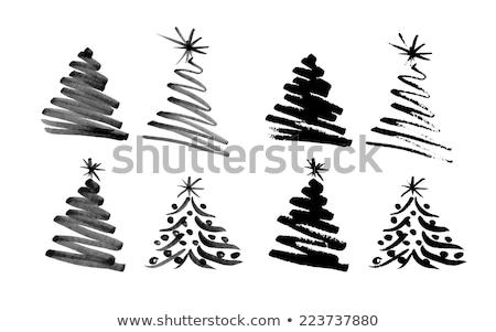 рождественская · елка · форме · звездой · Top - Сток-фото © wad