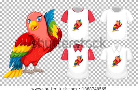 pássaro · artístico · projeto · natureza · arte · assinar - foto stock © viva