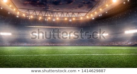 Közelkép szett fém üres baseball pálya iskola Stock fotó © chrisbradshaw