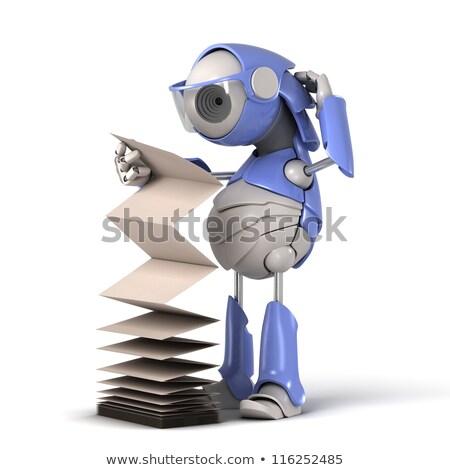 Robot reading manual. Stock photo © Kirill_M
