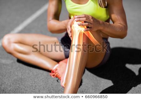 Sportsérülés térd támogatás boka nő egészség Stock fotó © BVDC