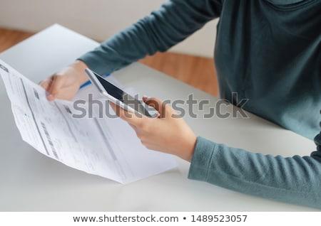 ötlet · modern · fehér · számológép · iroda · üzlet - stock fotó © devon