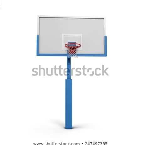 Basketball hoops with cage isolated on white background Stock photo © stevanovicigor