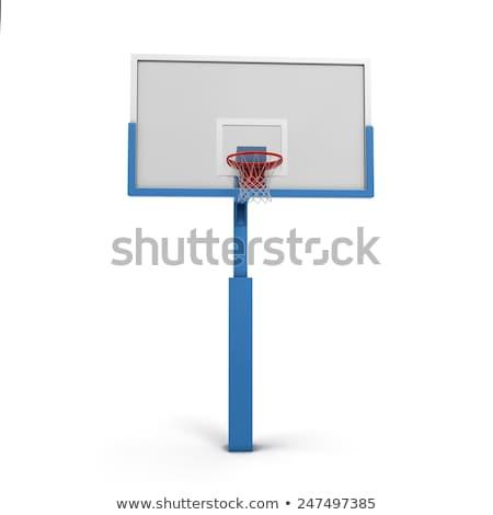 баскетбол клетке изолированный белый спорт оборудование Сток-фото © stevanovicigor