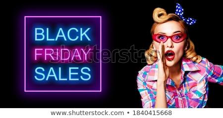 sırf · siyah · güzel · genç · kadın · kız - stok fotoğraf © disorderly