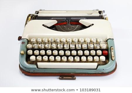 career on old typewriters keys stock photo © tashatuvango