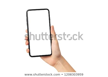 Hand Multimedia Telefon Bereich blau Mail Stock foto © vlad_star