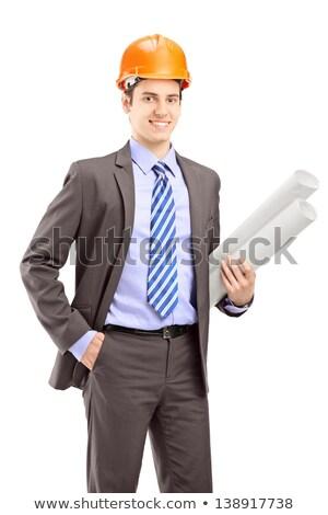 engenheiro · arquiteto · mulher · de · negócios · retrato · sorridente - foto stock © dolgachov